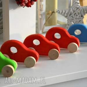 3 x samochody drewniane, auto, autko, samochód, samochodzik, drewniany, pojazd