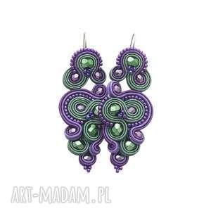 kolczyki renire emerald soutache, sutasz, orientalne, rękodzieło, stylowe