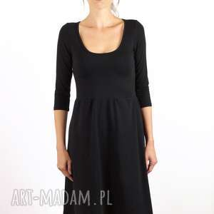 Mała czarna sukienka, czarna, bawełniana, lato, jesień,