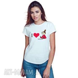 Licencjonowana koszulka damska Muminki I love mała mi , dla-niej, mała-mi,