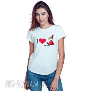 koszulki licencjonowana koszulka damska muminki i love mała mi, dla niej
