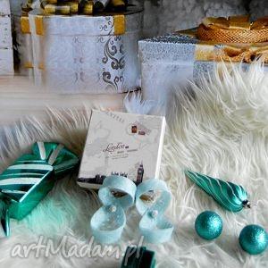 błękitne spinki, buty, prezent na święta