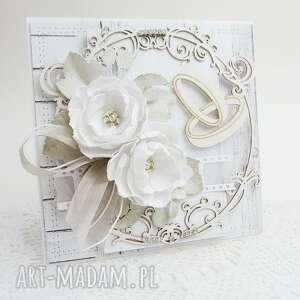 Kartka z kwiatami - w pudełku scrapbooking kartki marbella ślub
