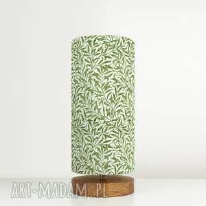 lampa dekoracyjna wierzba, drewno, bawełna, vintage, morris, design