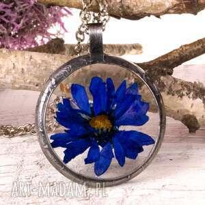 z1110 naszyjnik z suszonymi kwiatami herbarium, naszyjnik, biżuteriazżywicy