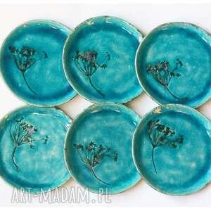 pod choinkę prezent, zestaw 6 talerzy z koprem, ceramika, talerz, koper, deser
