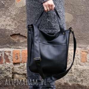 manufakturamms miniks czerń gładki, torba, torebka, minimal, simple, vegan