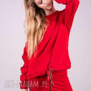 bluzy bluza damska czarwona kleopatra, bluzy, t shirty, spodnie, bluzki, kurtki