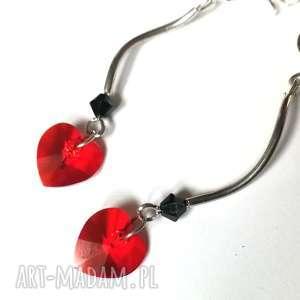 ręczne wykonanie klipsy walentynki czerwone serca
