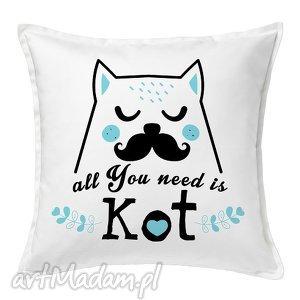 poduszka all you need is kot ii, poduszka, dekoracja, kot, prezent, przyjaciel
