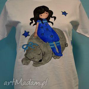 Bluzeczka z motywem Gorjuss 134-140 - ,gorjuss,lalka,tshirt,bluzka,rękaw,biała,