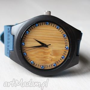 drewniany zegarek ebony zircon, zegarek, drewniany, heban, bambus, cyrkonie