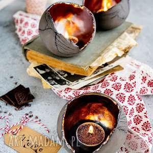 Lampion ceramiczny ozdobny szkliwiony - świecznik tealight