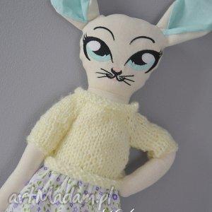 maskotki misia kicia w sweterku , miś, kotek, maskotka