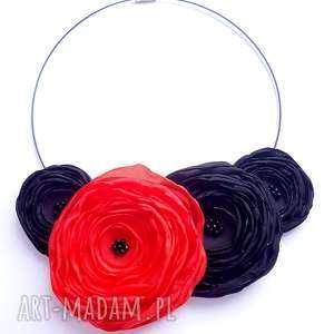 kwiatowa kolia - naszyjnik z tkaniny, kwiaty, kolia, naszyjnik, elegancki, kobieta