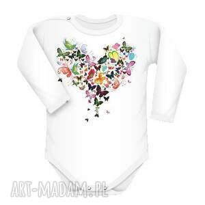 body motylki, body, śmieszne, serce dla dziecka