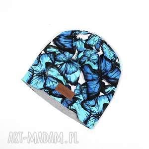 Prezent Czapka beanie ciepła unisex kolorowa motyle, czapka, beanie, prezent, motyle