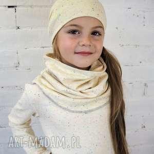 Prezent KOMPLET czapka & komin WANILIA, czapka, komin, komplet, dziecko, zima