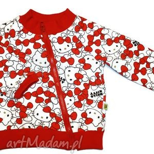 ubranka bluza na zamek - hello kitty 122-140 cm, bluza, bluzeczka, bluzka