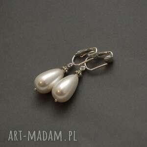 klipsy z perełkami, perła, wyjściowe, delikatne, eleganckie, ślubne, wieczorowe