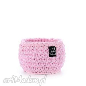 hand-made dekoracje koszyk jasny różowy