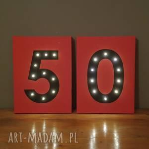 dekoracje świecące obrazy led 18 20 30 40 50 urodziny prezent dekoracja