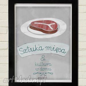 plakaty sztuka mięsa plakat 30x40, mięsa