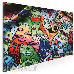 fotoobraz na płótnie - koty mural 120x80 cm 906301, koty, koteły