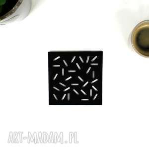 Podkładki filcowe pod kubek Patyczki - 6 szt. , podkładka, filcowa, filc, podstawek