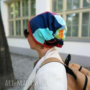 Ruda Klara. czapka szyta patchworkowo etno boho handmade