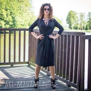 ręcznie zrobione sukienki gabriela midi - żakietowa sukienka