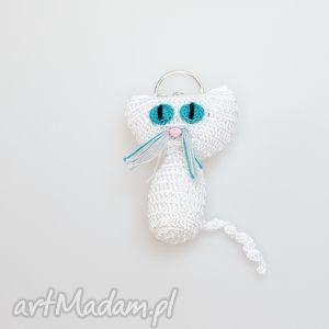 breloki kot breloczek, kot, kotek, brelok, szydełkowy