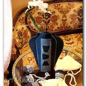 wazony wazon z filcu, wazon, butelki, filc, prezent, etui, kwiaty, święta