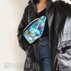 ręczne wykonanie nerki nerka damska - ara turkusowa