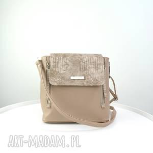 ręcznie zrobione plecak/listonoszka beżowy wą&#380