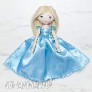 lalka księżniczka w błękitnej sukni balowej, lalka, laleczka