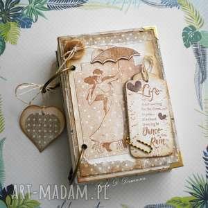 ręczne wykonanie scrapbooking notesy notes i szkicownik/ taniec w deczczu