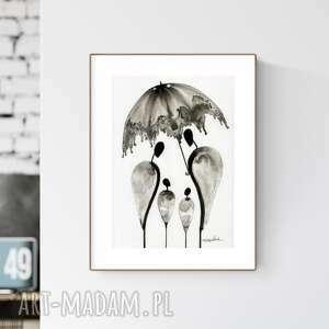 Grafika a4 wykonana ręcznie, abstrakcja, obraz do salonu