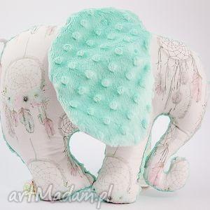 Słoń ŁAPACZE mięta, przytulanka, maskotka, słoń, słonik