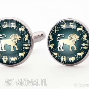 zodiak - spinki do mankietów, symboliczne zodiaku, znak