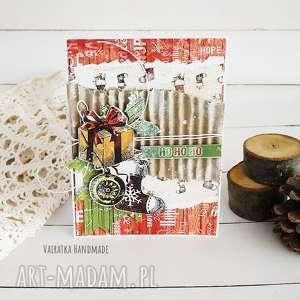 ręcznie robione pomysł na upominek święta kartka świąteczna, 510