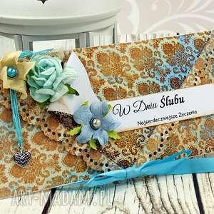 Prezent kartka ślubna- marokańskie klimaty, ślub, wesele, prezent, kopertówka, ślubna