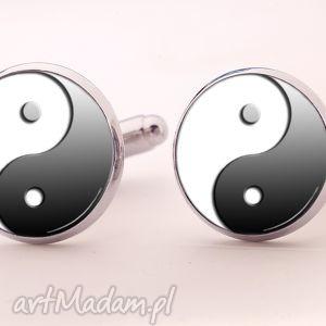 ying yang - spinki do mankietów - chłopak symboliczne, prezent