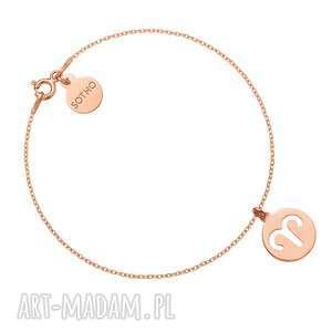 bransoletka z zodiakiem barana z różowego złota - różowe