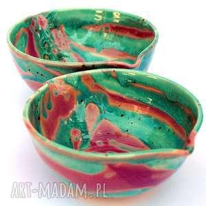 hand-made ceramika ceramiczne miski 2szt - eliptyczne iii