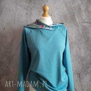 ręcznie zrobione bluzy bawełniana bluza z kapturem