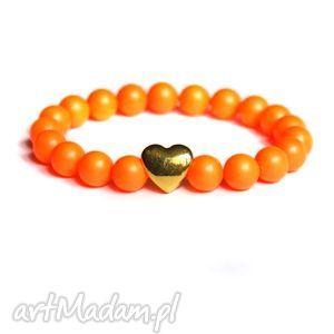 swarovski neon pearls orange, neonowa, swarovski, fluo, neon, ekskluzywna, unikalny