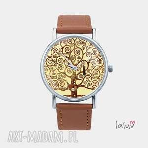 zegarek z grafiką klimt tree of life, dzrewo, życia, prezent, obraz, reprodukcja