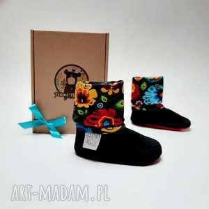 hand-made buciki buty dla niemowlaka - folk