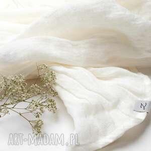 szaliki lniany szal chusta w kolorze białym, modny szal, pomysł